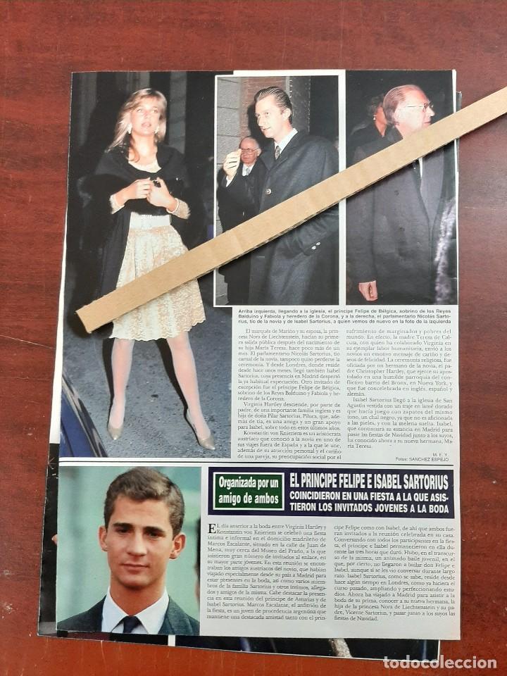 Coleccionismo de Revista Hola: ISABEL SARTORIUS - RECORTE 3 PAG. HOLA AÑO 1992 - Foto 2 - 194641223