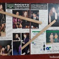 Coleccionismo de Revista Hola: ROCIITO ROCIO CARRASCO HIJA JURADO DEBUTO COMO MODELO- RECORTE 2 PAG. HOLA AÑO 1992. Lote 194641368