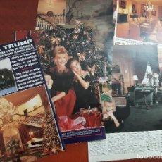 Coleccionismo de Revista Hola: IVANA TRUMP CON HIJOS IVANKA Y ERIC- ENTREVISTA EN SU MANSION- RECORTE 9 PAG. HOLA AÑO 1992. Lote 194641473