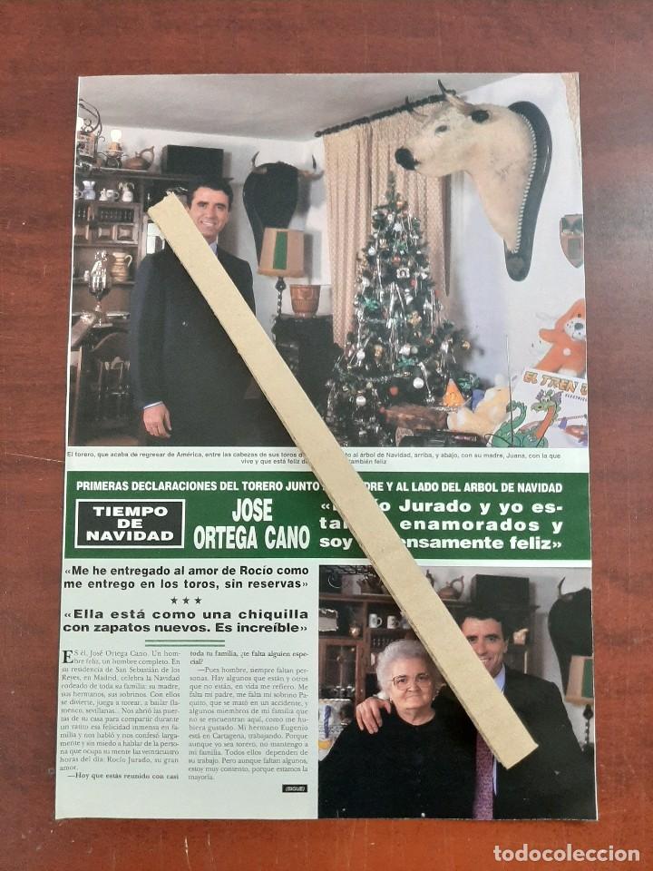 ORTEGA CANO ROCIO JURADO Y YO ESTAMOS ENAMOR- ENTREVISTA- RECORTE 2 PAG. HOLA AÑO 1992 (Coleccionismo - Revistas y Periódicos Modernos (a partir de 1.940) - Revista Hola)