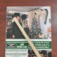 Coleccionismo de Revista Hola: ORTEGA CANO ROCIO JURADO Y YO ESTAMOS ENAMOR- ENTREVISTA- RECORTE 2 PAG. HOLA AÑO 1992. Lote 194641556