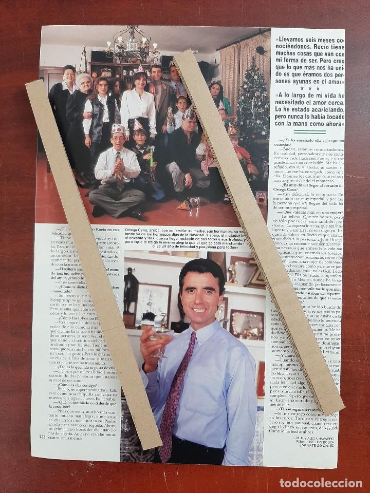 Coleccionismo de Revista Hola: ORTEGA CANO ROCIO JURADO Y YO ESTAMOS ENAMOR- ENTREVISTA- RECORTE 2 PAG. HOLA AÑO 1992 - Foto 2 - 194641556