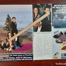 Coleccionismo de Revista Hola: EL SORO Y SU MUJER SUZETTE- ENTREVISTA- RECORTE 2 PAG. HOLA AÑO 1992. Lote 194644157