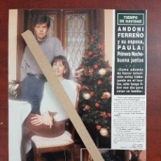 Coleccionismo de Revista Hola: ANDONI FERREÑO Y ESPOSA PAULA - ENTREVISTA- RECORTE 1 PAG. HOLA AÑO 1992. Lote 194644226
