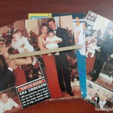 Coleccionismo de Revista Hola: ANA OBREGON ALESSANDRO LEQUIO CON ALEJANDRO NAVIDADES - ENTREVISTA- RECORTE 6 PAG. HOLA AÑO 1992. Lote 194644472