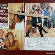 Coleccionismo de Revista Hola: MARIA TERESA CAMPOS CON FELIX ARECHABALETA CARMEN Y TERELU- ENTREVISTA- RECORTE 3 PAG. HOLA AÑO 1992. Lote 194644636