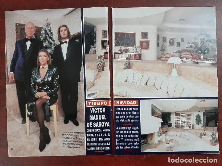 VICTOR MANUEL SABOYA Y MARIA DORIA Y PRINCIPE EMMANUEL - ENTREVISTA- RECORTE 10 PAG. HOLA AÑO 1992 (Coleccionismo - Revistas y Periódicos Modernos (a partir de 1.940) - Revista Hola)