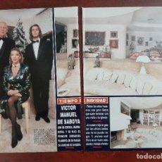 Coleccionismo de Revista Hola: VICTOR MANUEL SABOYA Y MARIA DORIA Y PRINCIPE EMMANUEL - ENTREVISTA- RECORTE 10 PAG. HOLA AÑO 1992. Lote 194644882