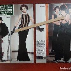 Coleccionismo de Revista Hola: ANTONIA DELL'ATTE CON MODELOS VALENTINO-FERRE-ARMANI Y ODICINI- RECORTE 4 PAG. HOLA AÑO 1992. Lote 194645201
