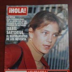 Coleccionismo de Revista Hola: HOLA Nº 2424- AÑO 1991- ISABEL SORTORIUS- JULIA ROBERTS- LOLA FLORES- REVISTA. Lote 194716020