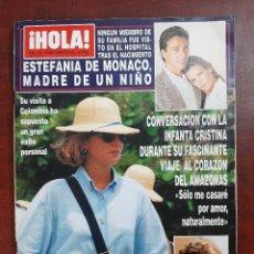 Coleccionismo de Revista Hola: HOLA Nº 2522- AÑO 1992- GARCIA CAMPOY- ESTEFANIA MONACO-INFANTA CRISTINA - REVISTA. Lote 194720010