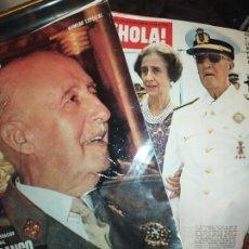 Coleccionismo de Revista Hola: LOTE DOS REVISTAS FRANCO A MUERTO NÚMERO ESPECIAL EL CAUDILLO 1975. Lote 194740231