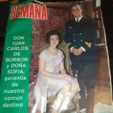 Coleccionismo de Revista Hola: REVISTA SEMANA 8 DE NOVIEMBRE DE 1975 Nº 1864 REYES DE ESPAÑA. Lote 194740556