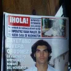 Coleccionismo de Revista Hola: REVISTA HOLA Nº 3189 AÑO 2005. EMPERATRIZ FARAH. CAYETANO RIVERA. CHENOA. BROOKE SHIELDS. EUGENIA. . Lote 194861992