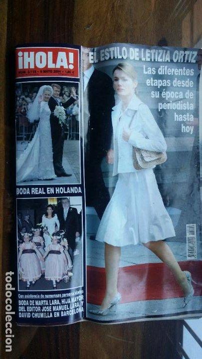 REVISTA HOLA Nº 3118 AÑO 2004. BODA REAL EN HOLANDA. EL ESTILO DE LETIZIA ORTIZ. (Coleccionismo - Revistas y Periódicos Modernos (a partir de 1.940) - Revista Hola)