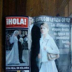 Coleccionismo de Revista Hola: REVISTA HOLA Nº 3118 AÑO 2004. BODA REAL EN HOLANDA. EL ESTILO DE LETIZIA ORTIZ.. Lote 194862145
