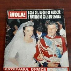 Coleccionismo de Revista Hola: REVISTA HOLA Nº 2289 - AÑO 1988- BODA DUQUE HUESCAR Y MATILDE SOLIS EN SEVLLA. Lote 194936487