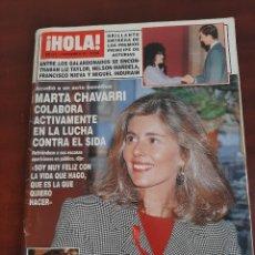 Coleccionismo de Revista Hola: REVISTA HOLA Nº 2518 - AÑO 1992- JULIO IGLESIAS- MARTA CHAVARRI- ROCIO JURADO-. Lote 194937898