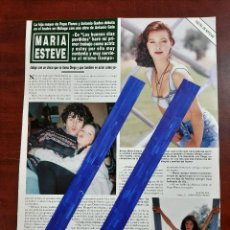 Coleccionismo de Revista Hola: MARIA ESTEVE- ENTREVISTA - RECORTE 1 PAG.- REVISTA HOLA 1984 - VER DETALLES. Lote 195040100