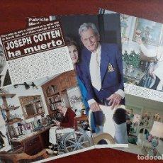 Coleccionismo de Revista Hola: PATRICIA MEDINA JOSEPH COTTEN HA MUER- ENTREVISTA - RECORTE 4 PAG.- REVISTA HOLA 1984 - VER DETALLES. Lote 195040380