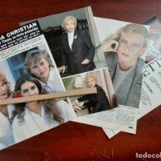 Coleccionismo de Revista Hola: LINDA CHRISTIAN ABUELA YLENIA HIJA DE ROMINA Y ALBANO-ENTREVISTA- RECORTE 6 PAG.- REVISTA HOLA 1984. Lote 195041946