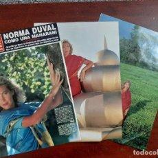 Coleccionismo de Revista Hola: NORMA DUVAL COMO UNA MAHARANI - ENTREVISTA - RECORTE 5 PAG.- REVISTA HOLA 1984 . Lote 195042990