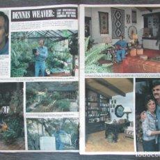Coleccionismo de Revista Hola: RECORTE REVISTA HOLA Nº 1753 1978 DENNIS WEAVER 3 PGS. Lote 195186326