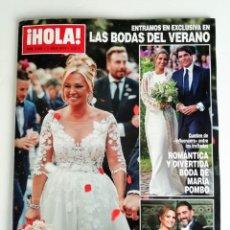 Coleccionismo de Revista Hola: HOLA: BODA DE BELEN ESTEBAN (AÑO 2019). Lote 195355801