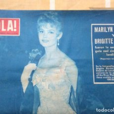 Coleccionismo de Revista Hola: ANTIGUA REVISTA HOLA NUMERO 637 DEL 10 DE NOVIEMBRE DE 1950.MARILYN MONROE Y BRIGITTE BARDOT.. Lote 195396990