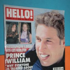 Coleccionismo de Revista Hola: REVISTA HELLO!, Nº 811, APRIL 13, 2004, PRINCE WILLIAM. Lote 195495385