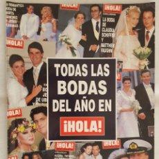 Coleccionismo de Revista Hola: REVISTA / HOLA N° ESPECIAL TODAS LAS BODAS DEL AÑO (2002). Lote 195634762