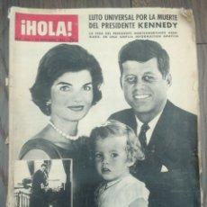 Coleccionismo de Revista Hola: REVISTA HOLA 30-11-1963 NÚMERO 1005 LUTO MUERTE PRESIDENTE KENNEDY AMPLIO REPORTAJE DE SU VIDA. Lote 196261512