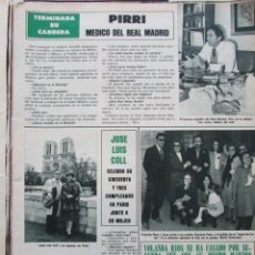 Colecionismo da Revista Hola: RECORTE REVISTA HOLA Nº 2076 1984 PIRRI, JOSE LUIS COLL, YOLANDA RIOS, TINA GRECAS. Lote 198138401