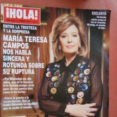 Coleccionismo de Revista Hola: HOLA REVISTA 3937 , ENERO 2020 - MARIA TERESA CAMPOS SOBRE SU RUPTURA . Lote 198952715