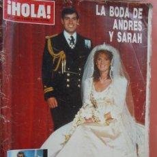 Coleccionismo de Revista Hola: HOLA REVISTA Nº2189 -08-1996 - LA BODA DE ANDRES Y SARAH , CAROLINA KENNEDY . Lote 198953245