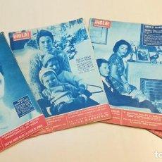 Coleccionismo de Revista Hola: LOTE 5 REVISTAS HOLA 1961. PEDIDA DE MANO DE JUAN CARLOS Y DÑA SOFIA. Lote 199407885