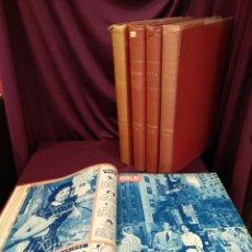 Coleccionismo de Revista Hola: 4 TOMOS REVISTA HOLA, UNAS 96 REVISTAS, 1950, 1951,1952 Y 1954. Lote 200238076