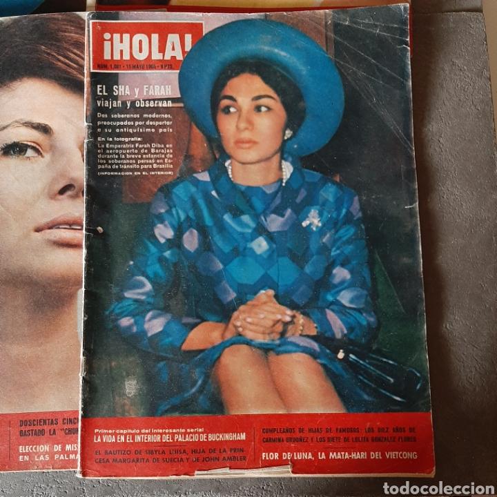 Coleccionismo de Revista Hola: LOTE DE 6 REVISTAS HOLA 1965 EL SANTO * LIZ TAYLOR * KIM NOVAK * SORAYA * FARAH - Foto 2 - 202361593