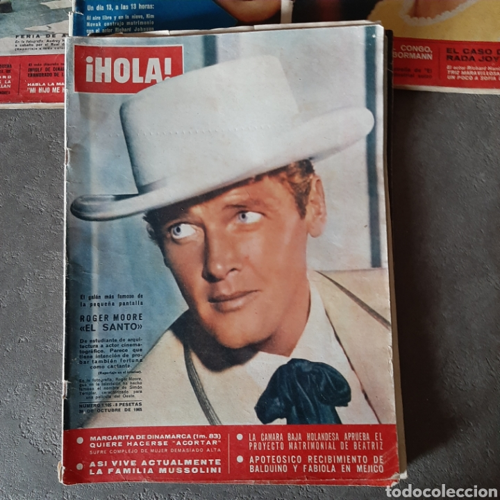Coleccionismo de Revista Hola: LOTE DE 6 REVISTAS HOLA 1965 EL SANTO * LIZ TAYLOR * KIM NOVAK * SORAYA * FARAH - Foto 4 - 202361593