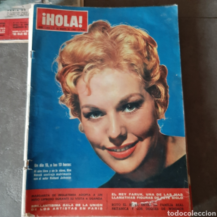 Coleccionismo de Revista Hola: LOTE DE 6 REVISTAS HOLA 1965 EL SANTO * LIZ TAYLOR * KIM NOVAK * SORAYA * FARAH - Foto 6 - 202361593