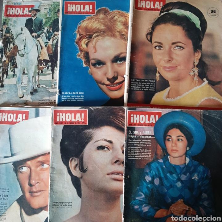 LOTE DE 6 REVISTAS HOLA 1965 EL SANTO * LIZ TAYLOR * KIM NOVAK * SORAYA * FARAH (Coleccionismo - Revistas y Periódicos Modernos (a partir de 1.940) - Revista Hola)