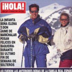 Coleccionismo de Revista Hola: HOLA Nº 2641 - 1995 - BODAS FAMILIA REAL - DOÑA ELENA Y JAIME DE MARICHALAR - DONALD Y MARLA TRUMP. Lote 202886987