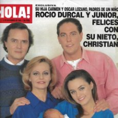 Coleccionismo de Revista Hola: ROCÍO DÚRCAL, JUNIOR, CARMEN MORALES Y FAMILIA: HOLA Nº 2727. 14 DE NOVIEMBRE DE 1996. Lote 203560627
