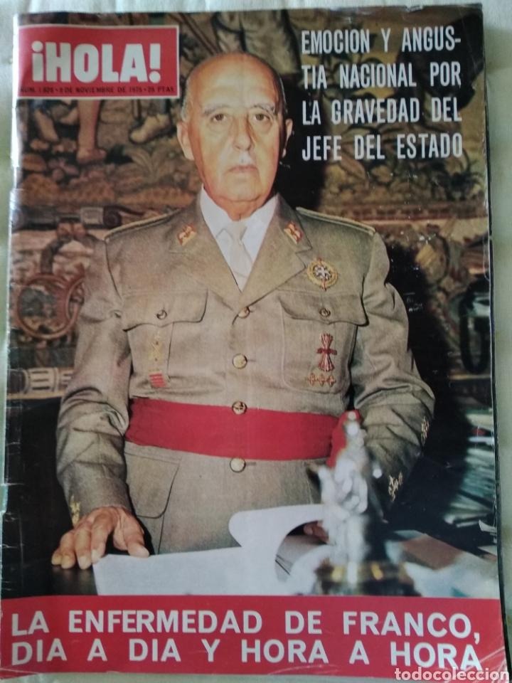 HOLA 8 NOV 1975. LA ENFERMEDAD DE FRANCO (Coleccionismo - Revistas y Periódicos Modernos (a partir de 1.940) - Revista Hola)