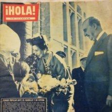 Coleccionismo de Revista Hola: VISITA DE FRANCO Y SU ESPOSA A BARCELONA 1960. Lote 203959135