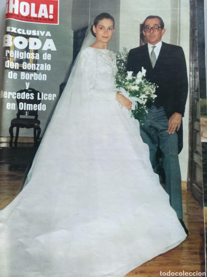 REVISTA HOLA NUM 2081. 14 JULIO 1984. BODA GONZALO BORBON Y MERCEDES LICER (Coleccionismo - Revistas y Periódicos Modernos (a partir de 1.940) - Revista Hola)