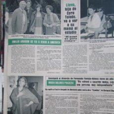 Colecionismo da Revista Hola: RECORTE REVISTA HOLA Nº 2115 1984 MARIA DOLORES PRADERA, EMILIO ARAGON, MILIKI. Lote 204747896