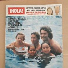 Coleccionismo de Revista Hola: HOLA N° 1933.12 DE SEPTIEMBRE DE 1981. RAPHAEL, NATALIA EN ACAPULCO. Lote 205035302