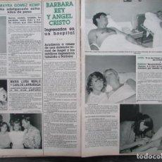 Colecionismo da Revista Hola: RECORTE REVISTA HOLA Nº 2146 1985 MAYRA GOMEZ KEMP, LARRAÑAGA, BARBARA REY, ANGEL CRISTO. Lote 205787820