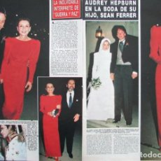 Coleccionismo de Revista Hola: RECORTE REVISTA HOLA Nº 2160 1986 AUDREY HEPBURN. Lote 206160323